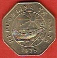 MALTA  # 25 CENTS  FROM 1975 - Malte