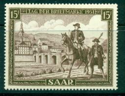 Saar 1951 Stamp Day MUH Lot38484 - 1947-56 Protectorate