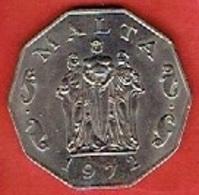 MALTA  # 50 CENTS  FROM 1972 - Malte