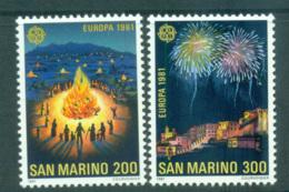 San Marino 1981 Europa, Folklore MUH Lot65805 - Unused Stamps