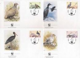 Gibraltar 1991 WWF Birds Of Gibraltar FDC - Gibraltar