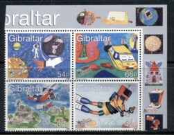 Gibraltar 2000 Stampin' The Future Children's Paintings Blk4 MUH - Gibraltar