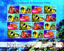 Nauru 2003 ( Feuille Complète ) Protection De La Faune / Poisson Clown / WWF - W.W.F.