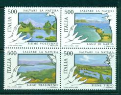 Italy 1987 Environmental Protection Blk 4 MUH Lot58616 - 6. 1946-.. Republic