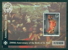 Malta 2008 Year Of St Paul MS MUH Lot23580 - Malta
