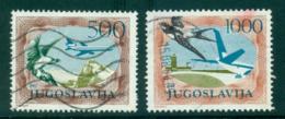 Yugoslavia 1984 550,1000d Bird, Plane FU Lot40642 - Yugoslavia