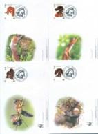 Slovenia 2007 WWF Red Squirrel 4xFDC Lot77056 - Slovenia