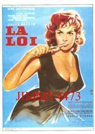 CPM - Gina LOLLOBRIGIDA - LA LOI De Jules Dassin - Pierre BRASSEUR & Mélina MERCOURI  Etc . . .- Edit. ADAGP - Posters Op Kaarten