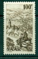 Saar 1949-51 100f View Of Weibelskirchen MUH Lot38478 - 1947-56 Protectorate