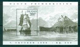 Iceland 1999 Stamp Day Sailing Ship MS MUH Lot32386 - 1944-... Republic