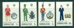 Gibraltar 1972 Military Uniforms MH Lot20678 - Gibraltar