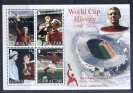 Gibraltar 2002 World Cup Soccer History MS MUH - Gibraltar
