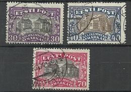Estland Estonia 1924/27 Theater Michel 55 & 56 & 62 O - Estonie