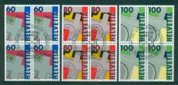 Switzerland 1993 Stamp Anniv. Blk 4 CTO Lot59023 - Switzerland