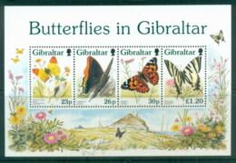 Gibraltar 1997 Butterflies MS MUH - Gibraltar