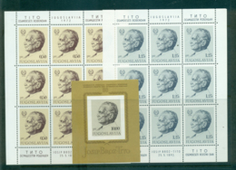 Yugoslavia 1972 Tito Birthday Sheetlets + MS MUH Lot40683 - Yugoslavia