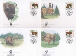 Lithuania 1996 WWF European Bison FDC - Lithuania