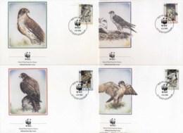 Iceland 1992 WWF Gyrfalcon, Bird FDC - 1944-... Republic