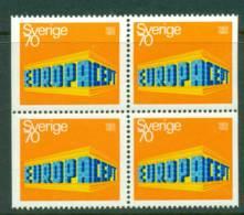 Sweden 1969 70o Europa Block Perf 3 Sides MUH Lot15900 - Sweden