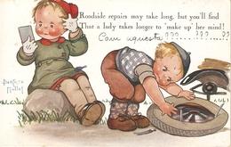 """Beatrice Mallet. Toadside Repairs Mye Take Long..."" Tuck Oiette Cute Kiddies Series PC # 3634 - Tuck, Raphael"