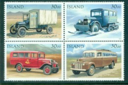 Iceland 1992 Mail Trucks Blk 4 MUH Lot32411 - 1944-... Republic