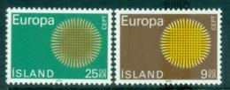 Iceland 1970 Europa, Woven Threads MUH Lot65499 - 1944-... Republic