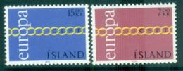 Iceland 1971 Europa, Chain Through O MUH Lot65516 - 1944-... Republic