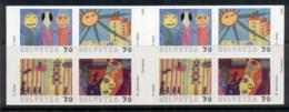 Switzerland 2000 Stampin' The Future, Children's Drawings P&S Booklet MUH - Switzerland