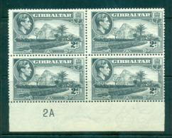 Gibraltar 1942-49 2d Rock Of Gibraltar Perf 13.5, PB #2A Blk 4 MLH Lot62172 - Gibraltar