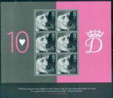Gibraltar 2007 Princess Diana In Memoriam, 10th Anniv, A Kind Of Destiny MS MUH - Gibraltar