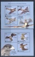 Gibraltar 2000 Wings Of Prey II, Birds, Airplanes MS MUH - Gibraltar