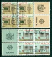 Malta 1990 Europa Block 4 + Labels FU Lot16425 - Malta