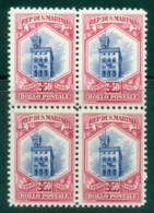 San Marino 1929 2.50 L Government Palace Blk 4 MUH Lot40283 - San Marino