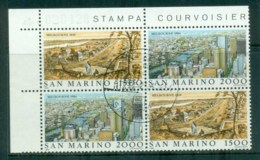 San Marino 1984 Stamp Exhibition, Melbourne Blk4 CTO - Unused Stamps