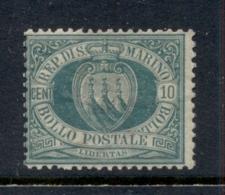 San Marino 1877-99 Coat Of Arms 10c Dark Green MLH - San Marino