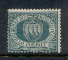San Marino 1877-99 Coat Of Arms 5c Green MLH - San Marino