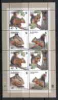 Armenia 2001 WWF Squirrel MS - Armenia