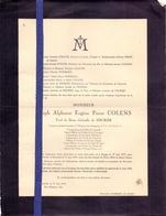 Doodsbrief Overlijden Faire Part De Deces - Joseph Colens - Brugge Bruges 1873 - Bruxelles 1944 - Overlijden