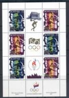 Slovenia 1996 Summer Olympics, Atlanta Sheetlet MUH - Slovenia