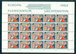 Liechtenstein 1962 Europa Sheetlet MUH Lot59521 - Liechtenstein