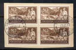 Liechtenstein 1937 Bridge Near Planken Blk4 On Piece FU - Unused Stamps