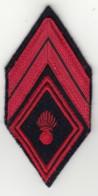 Insigne Losange De Bras + Galons De Caporal D'Infanterie - Scudetti In Tela