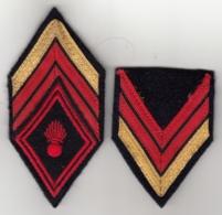 Insigne Losange De Bras + Galons De Caporal Chef D'Infanterie - Patches