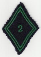 Insigne Losange De Bras Du 2e Régiment De Chasseurs à Cheval - Patches