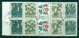 Sweden 1968 Nordic Flowers Booklet Pane FU Lot83872 - Sweden