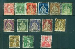 Switzerland 1907-8 Helvetia, William Tell Asst FU Lot5964 - Switzerland