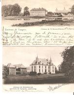2 CP. Château De 'S Heeren-Elderen Et Schalkhoven En 1902. - Tongeren