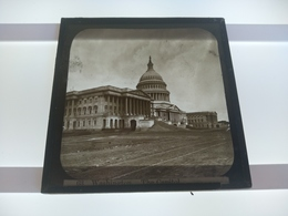 USA WASJINGTON THE CAPITOL  AMERICA  Plaque De Verre GLASS SLIDE CIRCA EARLY 1900 - Diapositivas De Vidrio