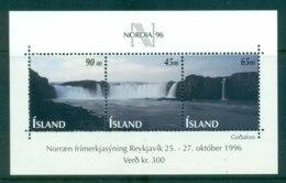 Iceland 1996 Nordia '96 Waterfalls MS MUH Lot32441 - 1944-... Republic