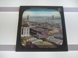 USA NEW YORK AMERICA  Plaque De Verre GLASS SLIDE CIRCA EARLY 1900 - Diapositivas De Vidrio